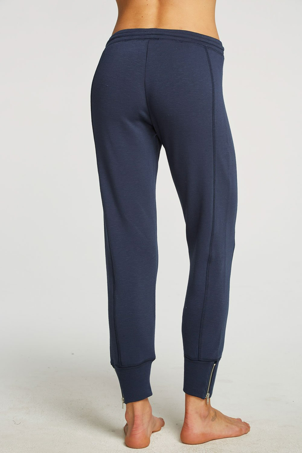 Chaser French Terry Side Zip Joggers - Side Cropped Image