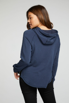 Chaser French Terry Side Zip Shirttail Hoodie - Alternate List Image