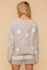 Hem and Thread French Terry Star Print - Side cropped