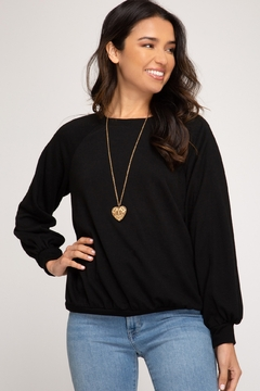 She + Sky French Terry Sweatshirt - Product List Image