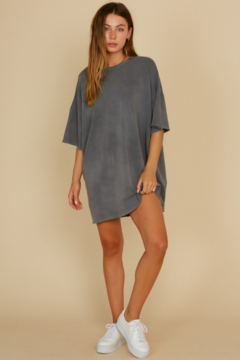 blue blush French Terry T-Shirt Dress - Alternate List Image