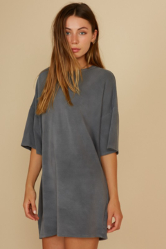 blue blush French Terry T-Shirt Dress - Product List Image