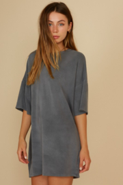 blue blush French Terry T-Shirt Dress - Product Mini Image