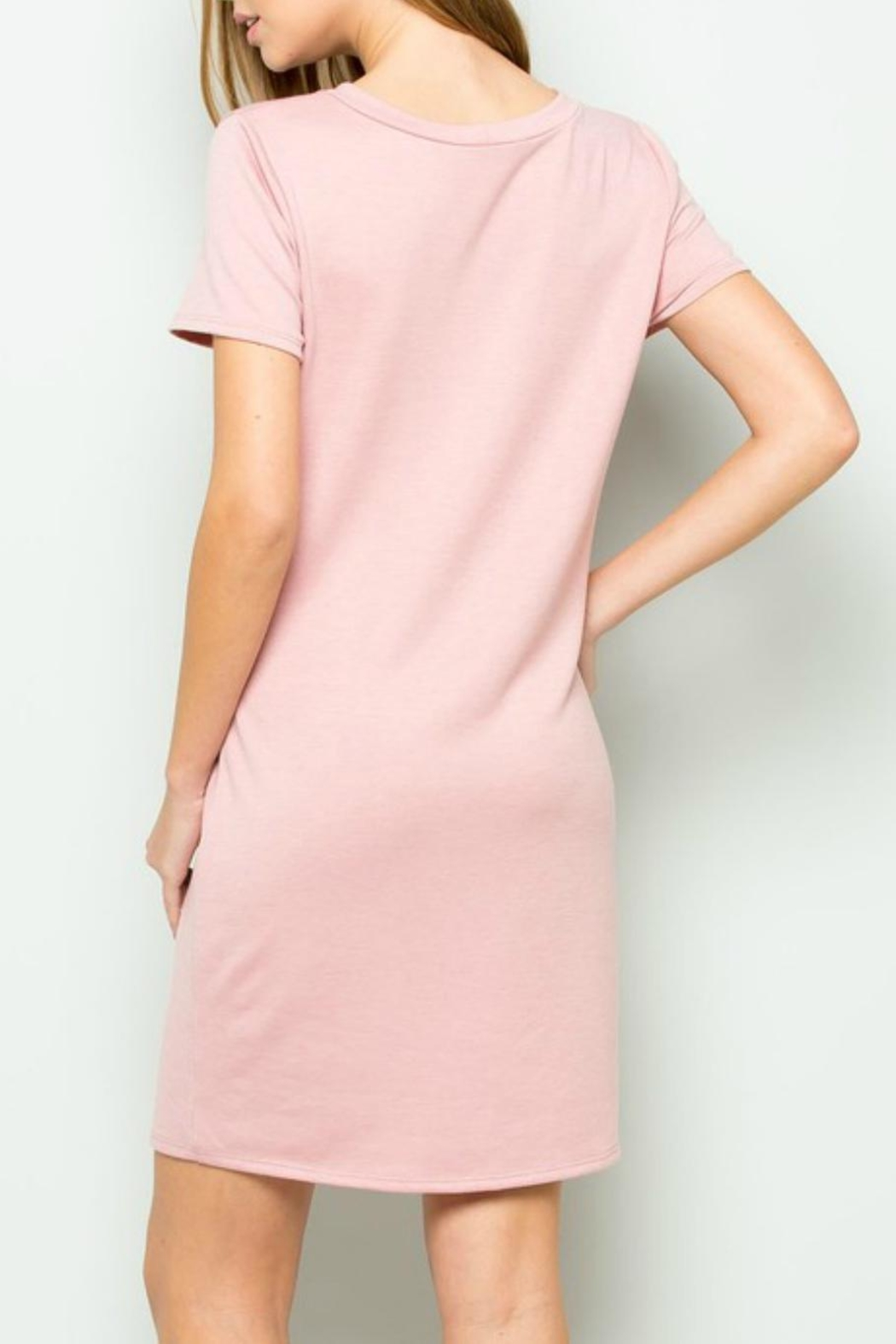 ee:some French-Terry Tie-Waist Dress - Side Cropped Image