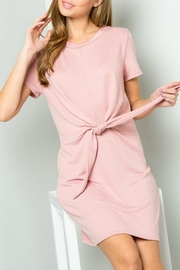 ee:some French-Terry Tie-Waist Dress - Front cropped