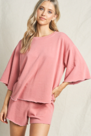 Maronie  French Terry Top - Product Mini Image