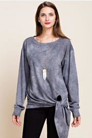Blue SLA French Terry Top - Front cropped