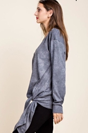 Blue SLA French Terry Top - Front full body