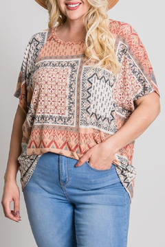 Cotton Bleu French Terry Top Curvy - Product List Image