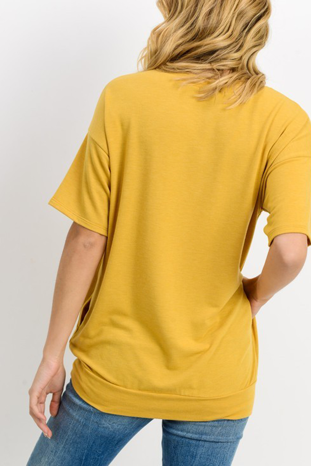 Cherish French Terry Tunic Top - Front Full Image