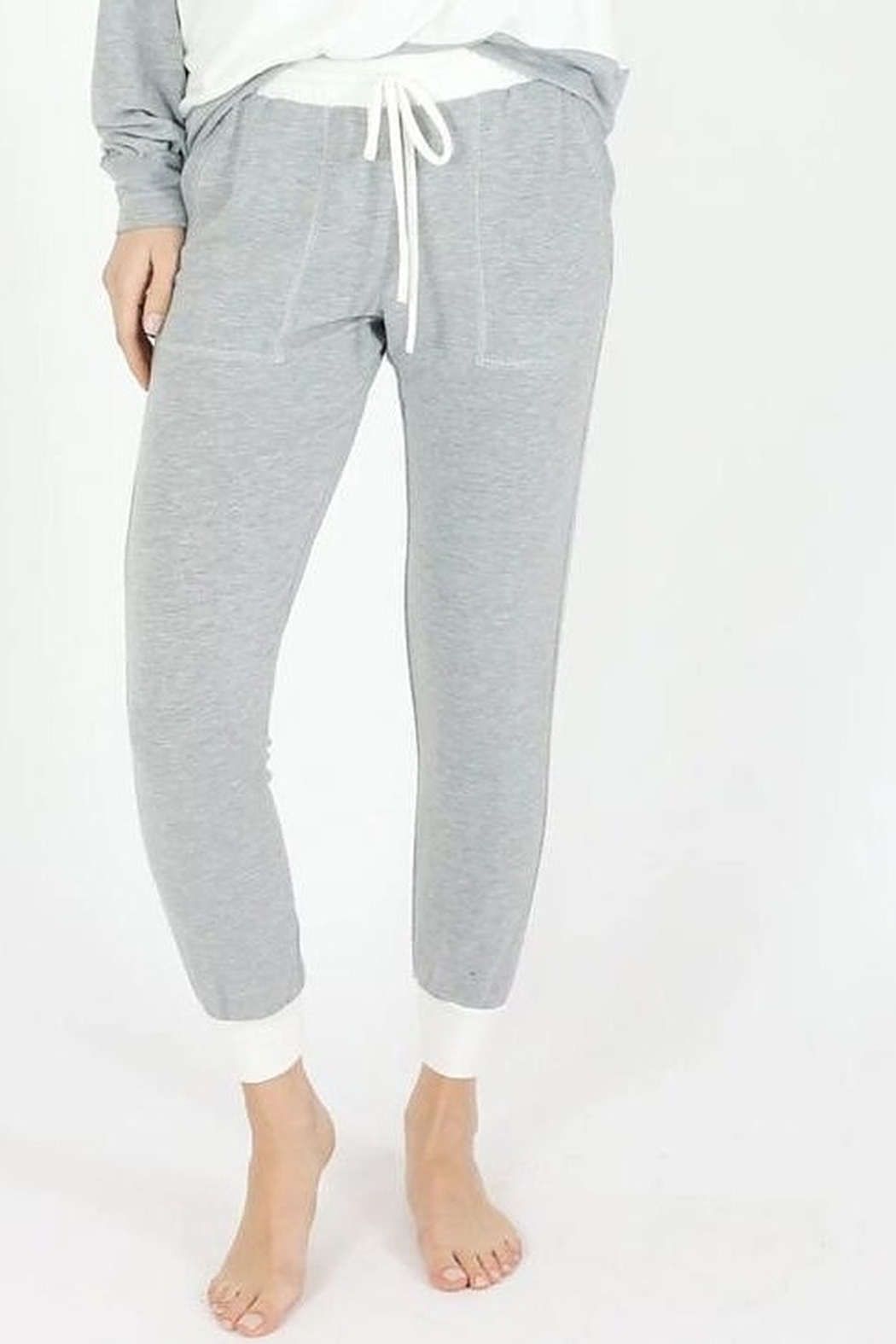 Six Fifty French Terry Two Tone Jogger - Front Full Image