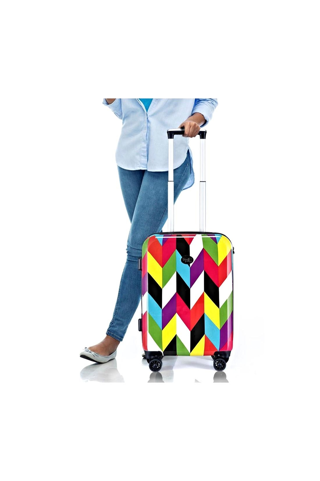 French Bull Carry-On Roller Luggag - Back Cropped Image