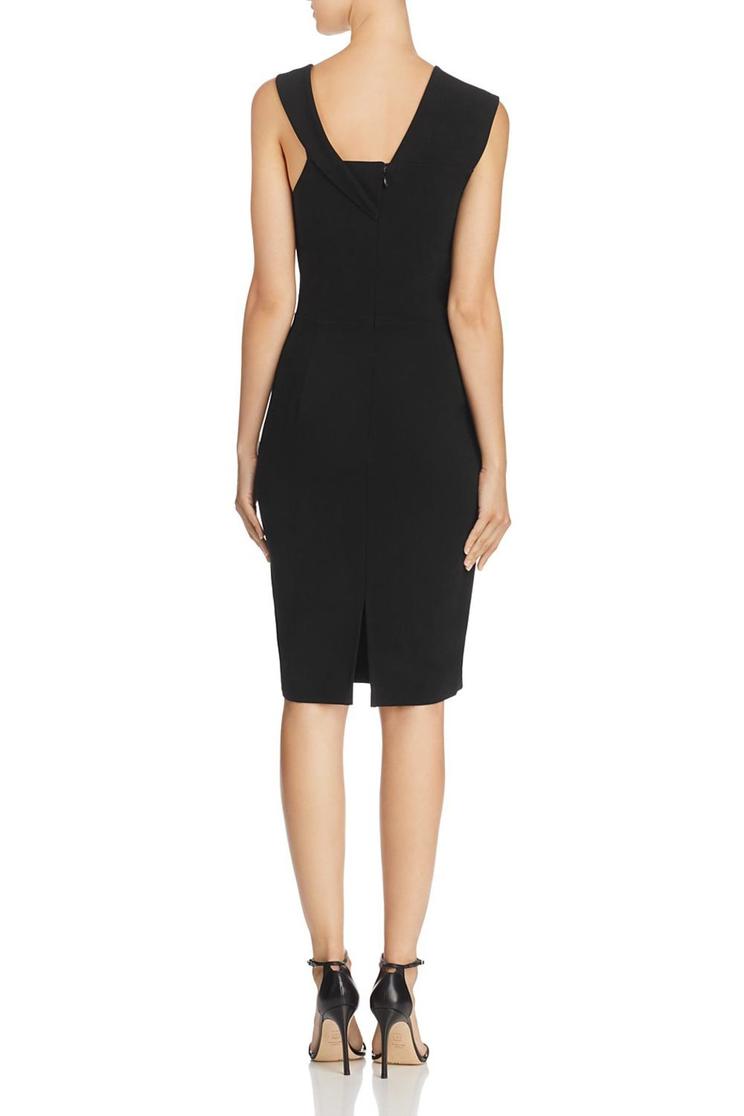 French Connection Asymmetric-Shoulder Dress - Front Full Image