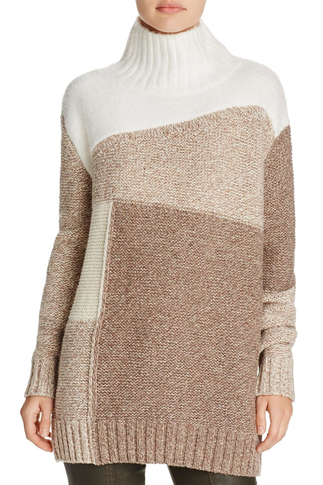French Connection Color-Blocked Patchwork Sweater - Main Image