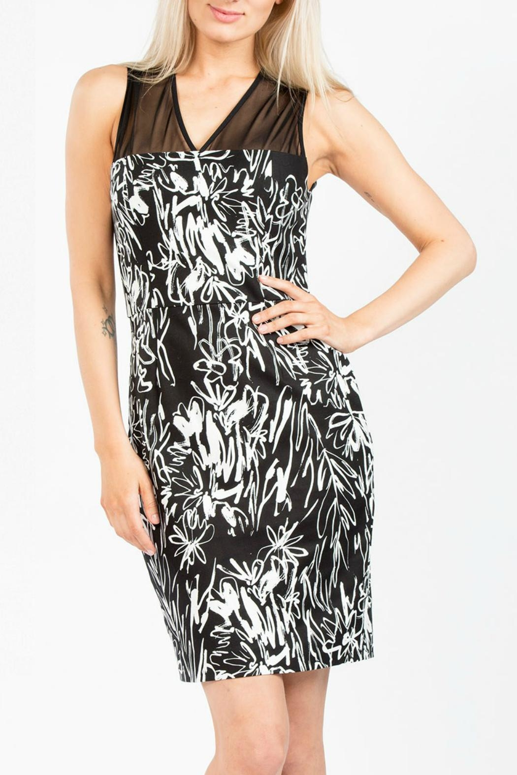 French Connection Copley V Neck Dress - Front Full Image