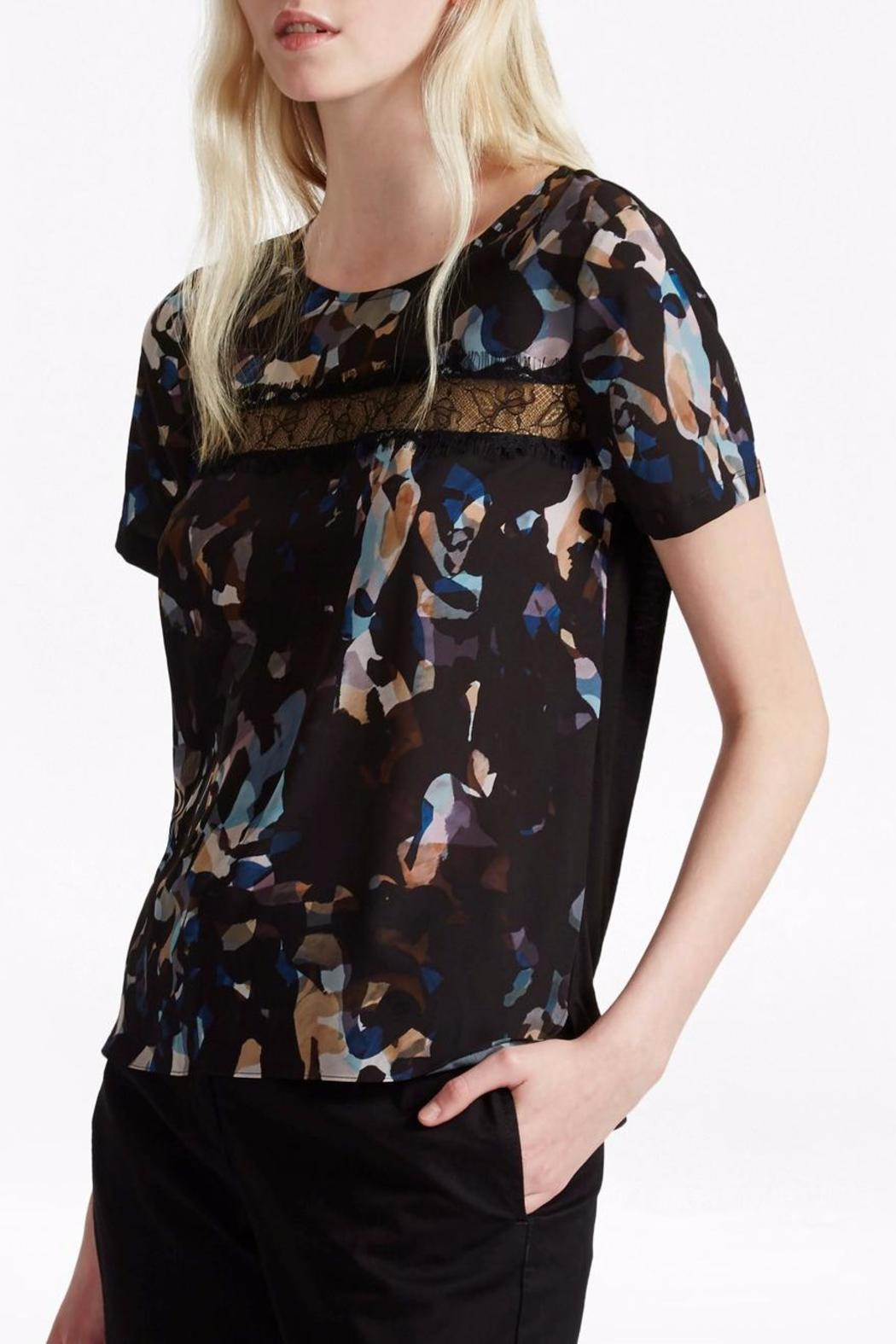 French Connection Cornucopia Lace Top - Front Cropped Image