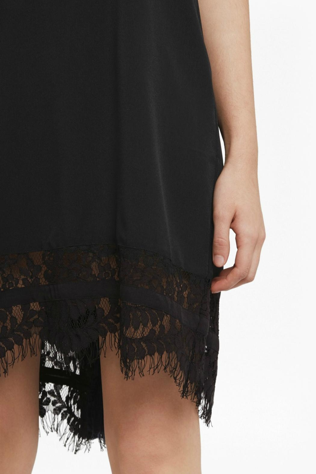 French Connection Crepe Lace Dress - Back Cropped Image
