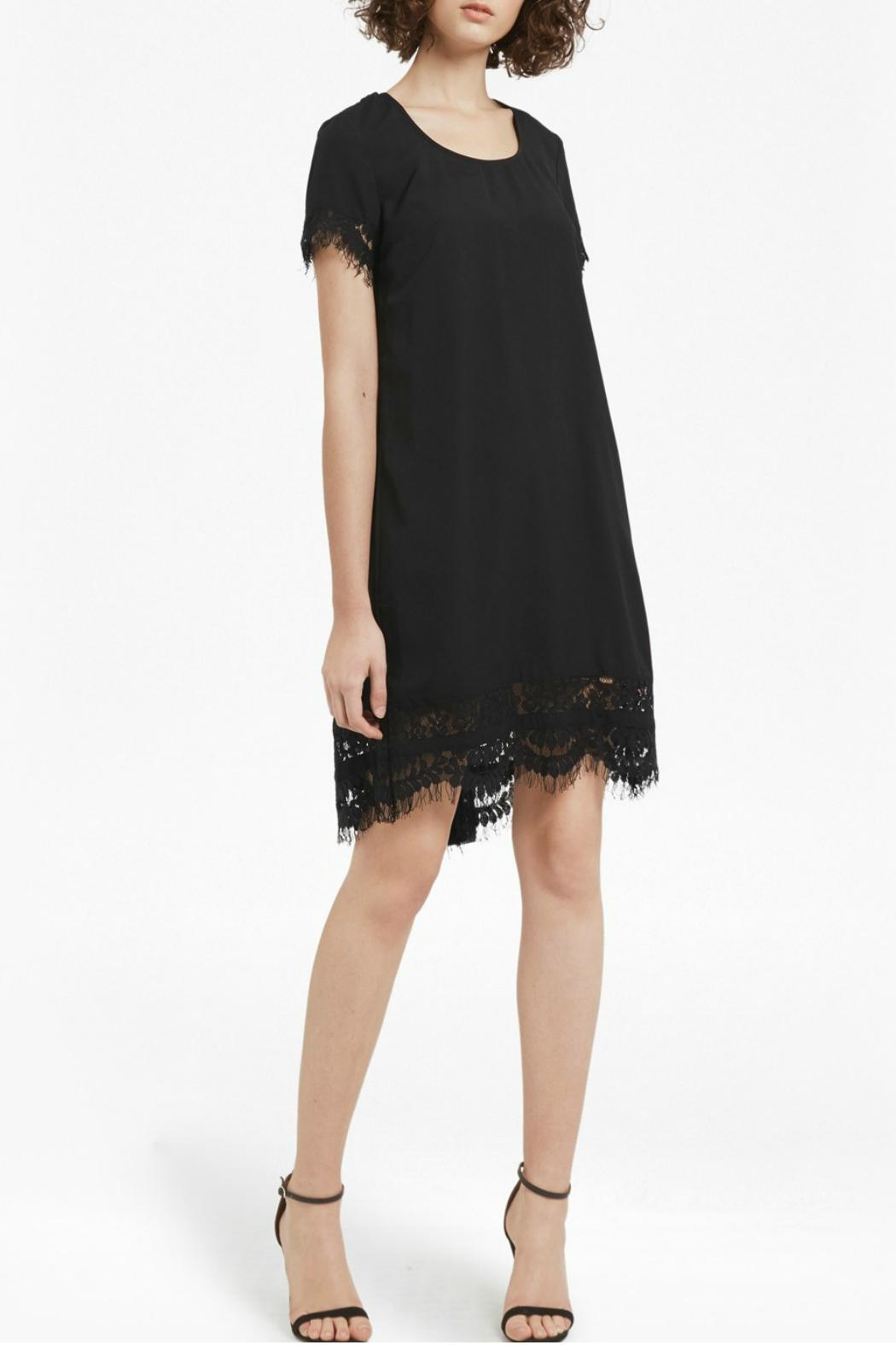 French Connection Crepe Lace Dress - Side Cropped Image