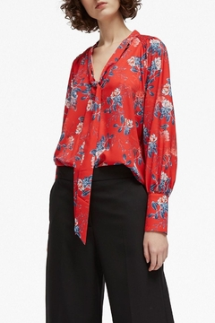 French Connection Crepe Tie Top - Product List Image
