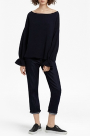 French Connection Ellen Fluted Jumper - Back cropped