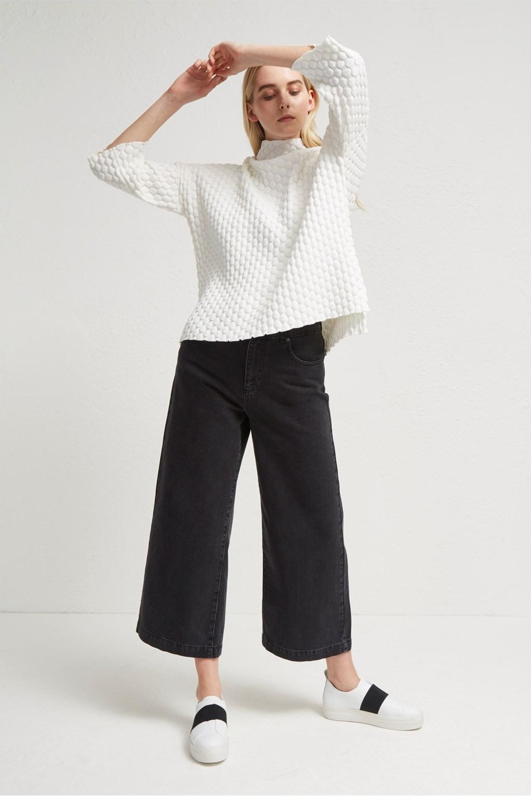 French Connection Knit Oversized Sweater - Side Cropped Image