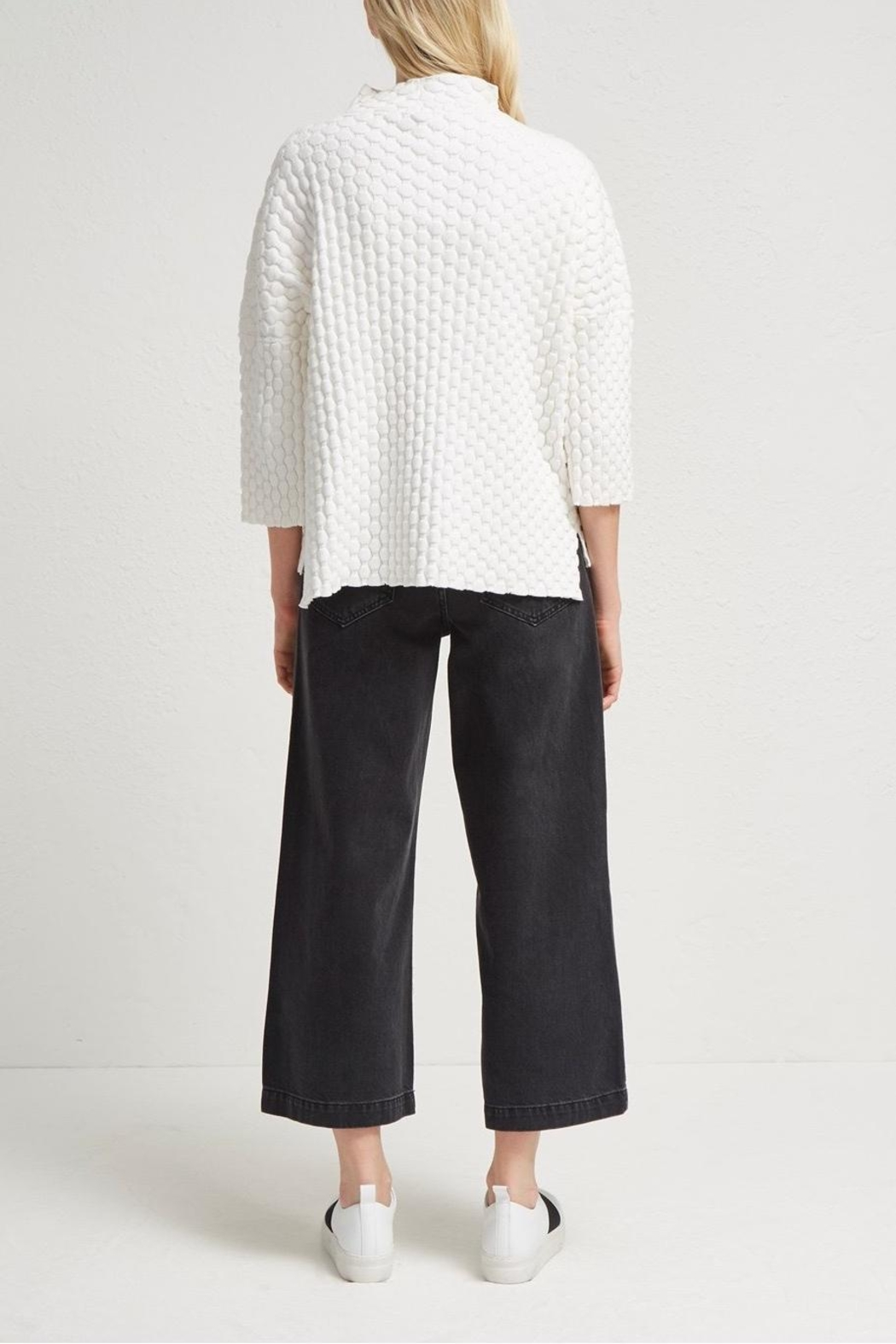 French Connection Knit Oversized Sweater - Back Cropped Image