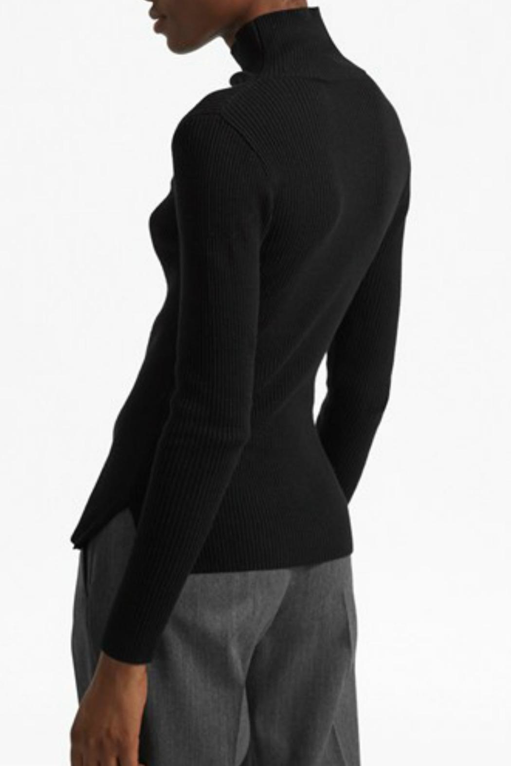 French Connection Mock Ribbed Sweater - Front Full Image