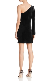 French Connection One-Shoulder Velvet Dress - Front full body