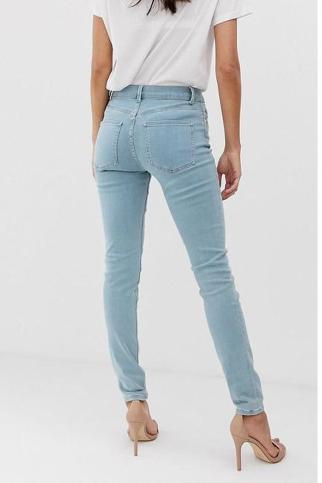 French Connection Rebound Skinny Jean - Back Cropped Image