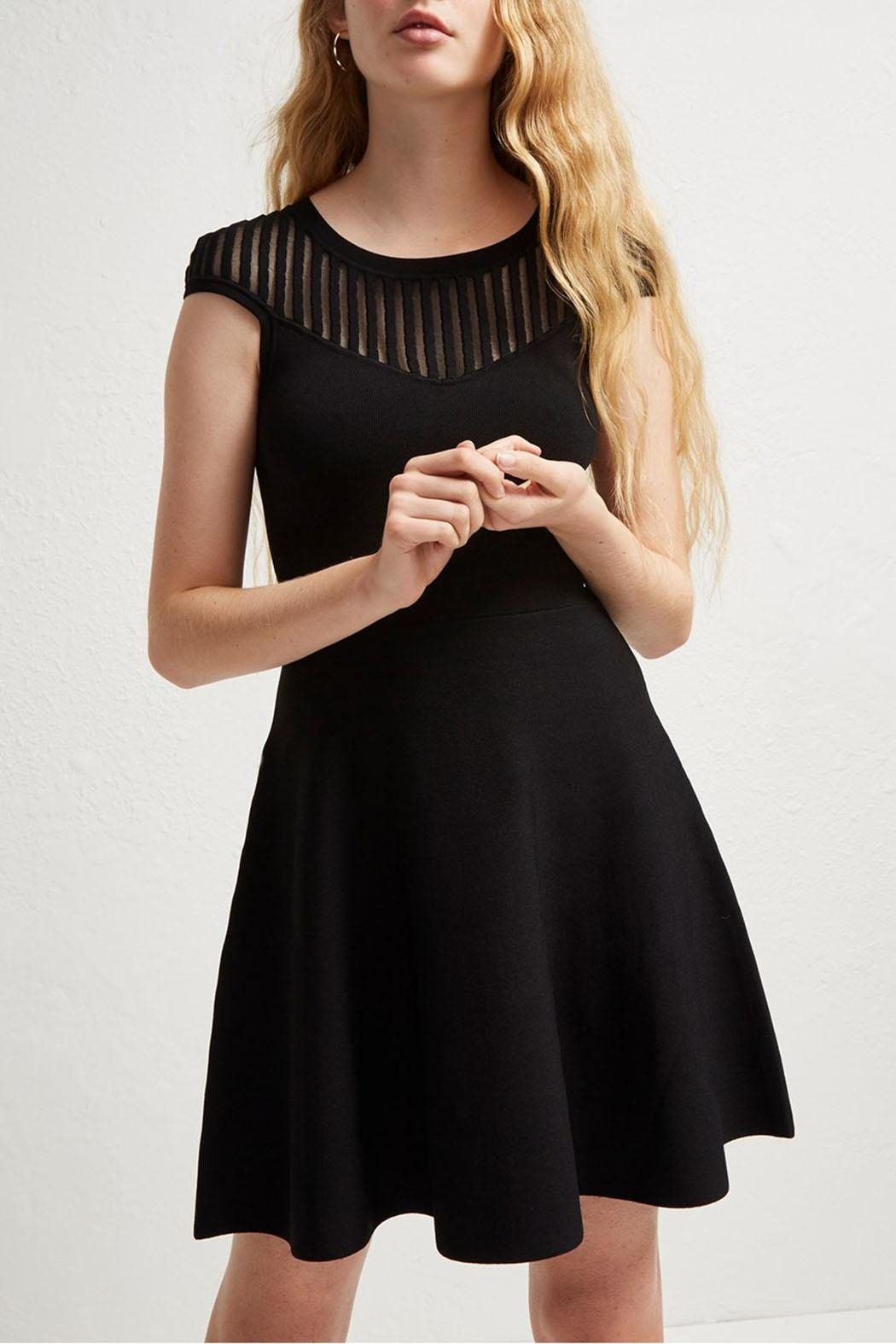 French Connection Rose Crepe Dress - Side Cropped Image