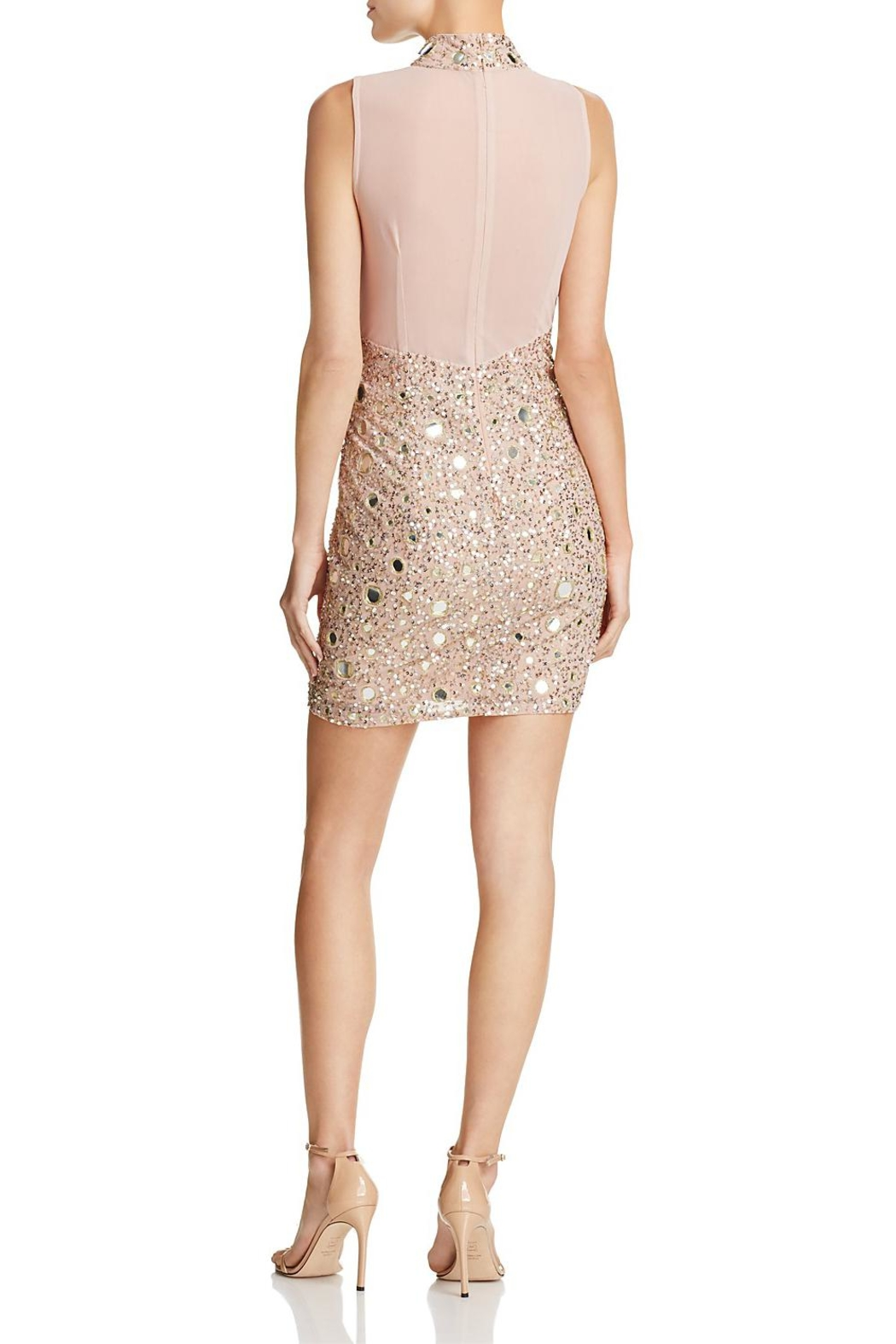 French Connection Sequined/mirrored Mini Dress - Front Full Image