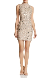 French Connection Sequined/mirrored Mini Dress - Front cropped