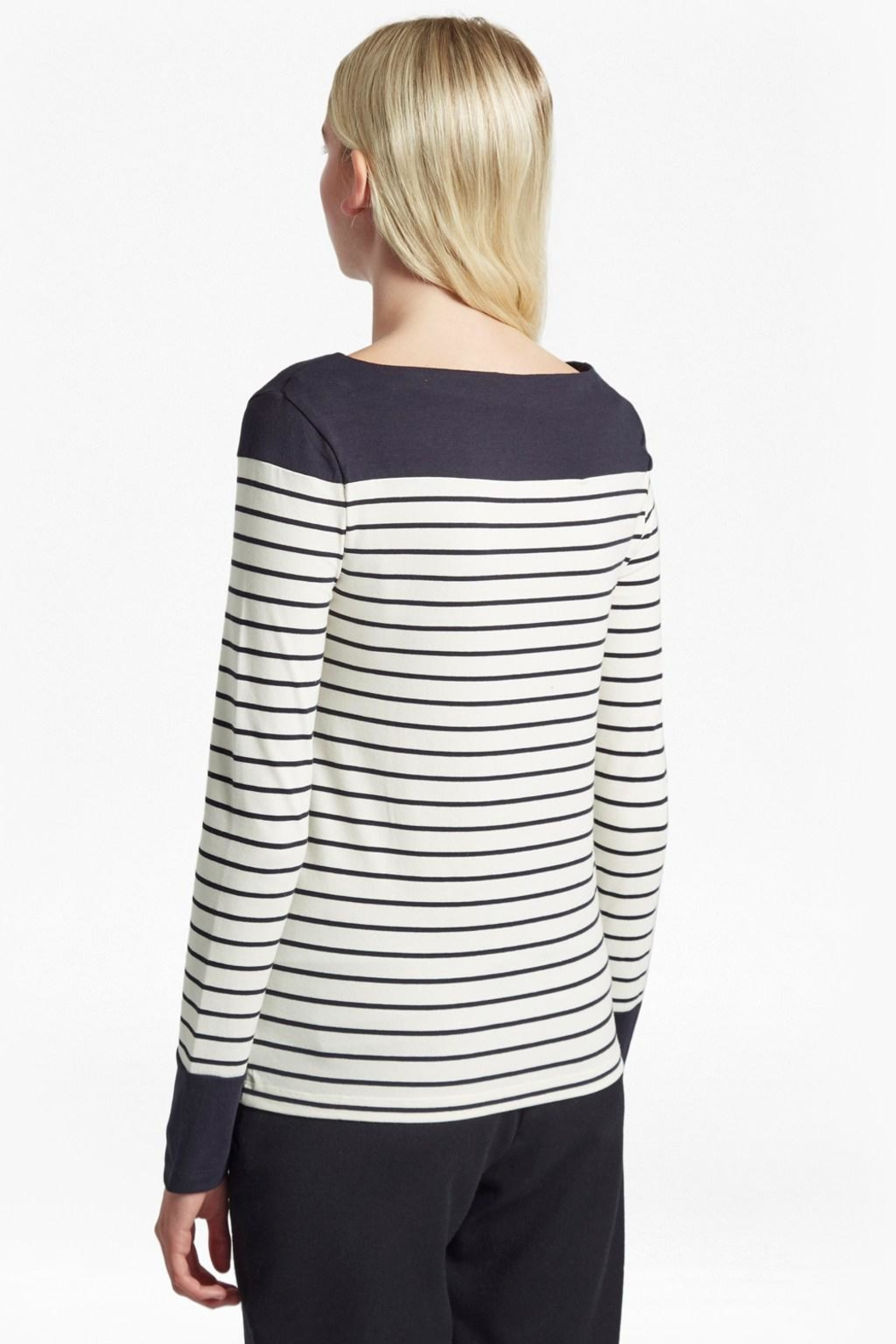 French Connection Striped Breton Tshirt - Front Full Image