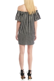 French Connection Striped Off Shoulder Dress - Front full body