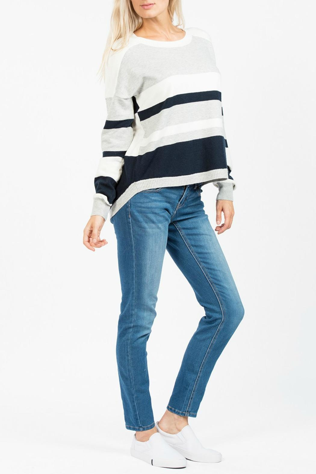 French Connection Varsity Vhari Knit Jumper - Side Cropped Image