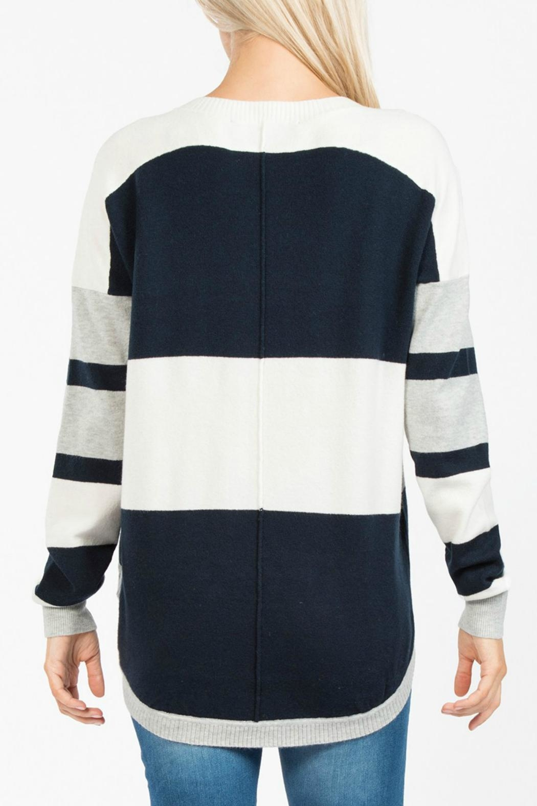 French Connection Varsity Vhari Knit Jumper - Front Full Image