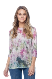 French Dressing Jeans Abstract Printed Burnout Top - Product Mini Image