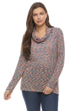 French Dressing Jeans Boucle Cowlneck Sweater - Product List Image