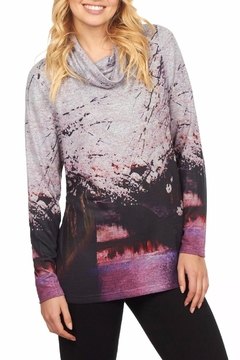 French Dressing Jeans Cowl Print Top - Alternate List Image