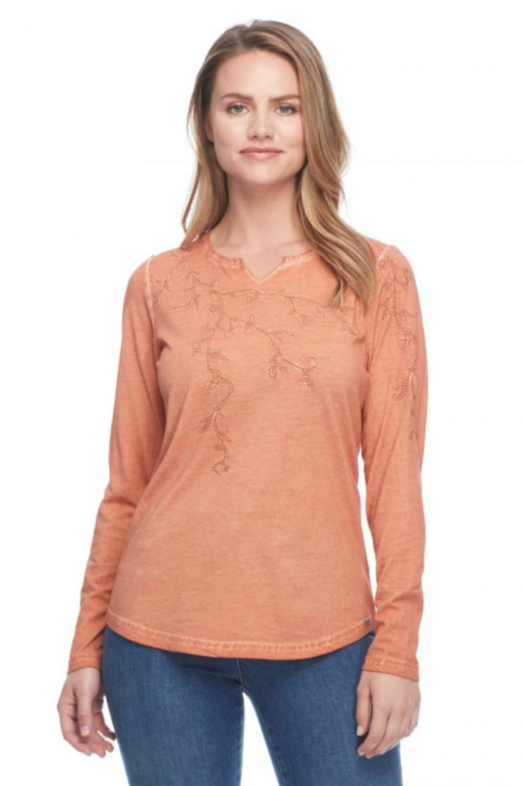French Dressing Jeans Embroidered Cotton Tee - Front Cropped Image