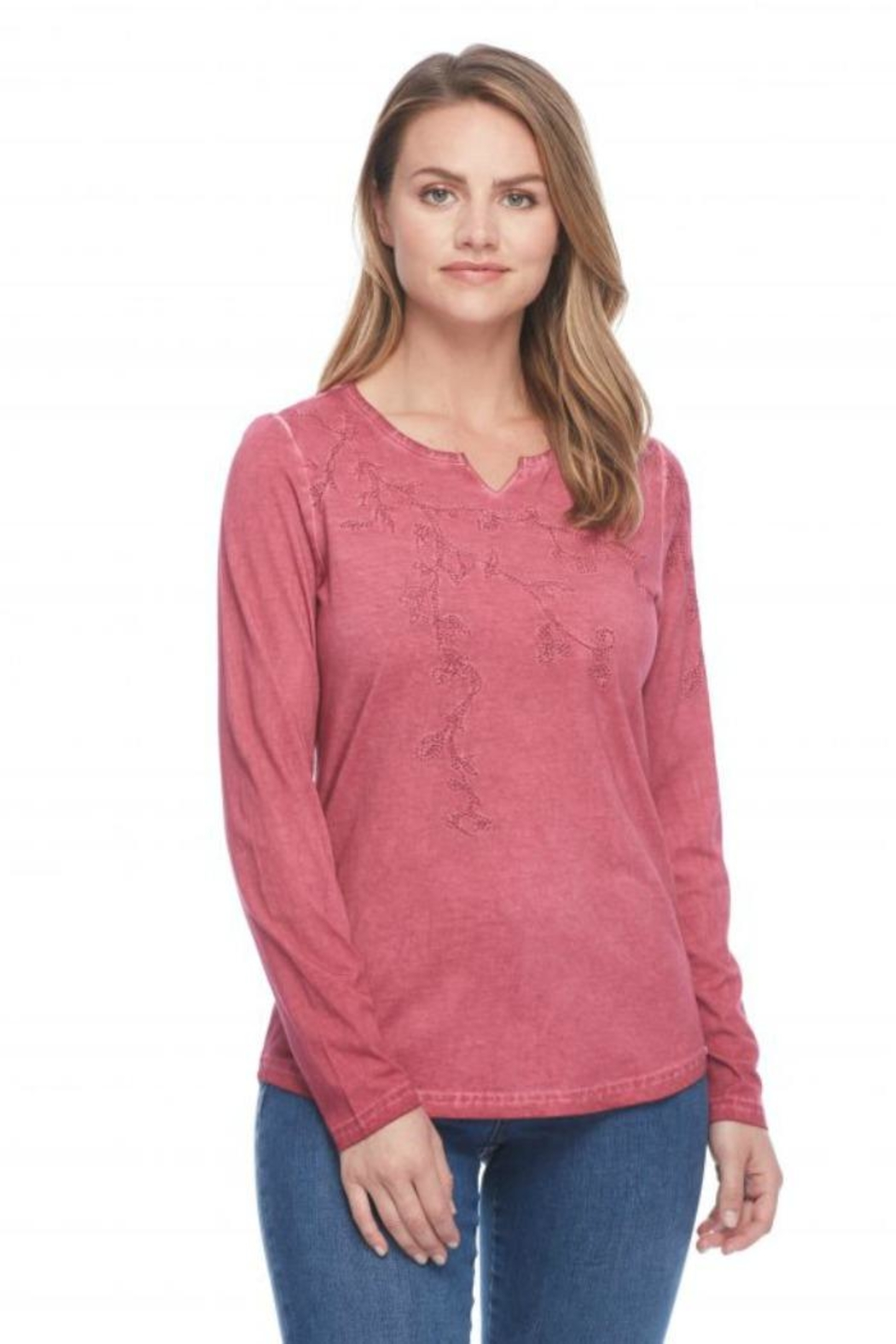 French Dressing Jeans Embroidered Cotton Tee - Main Image