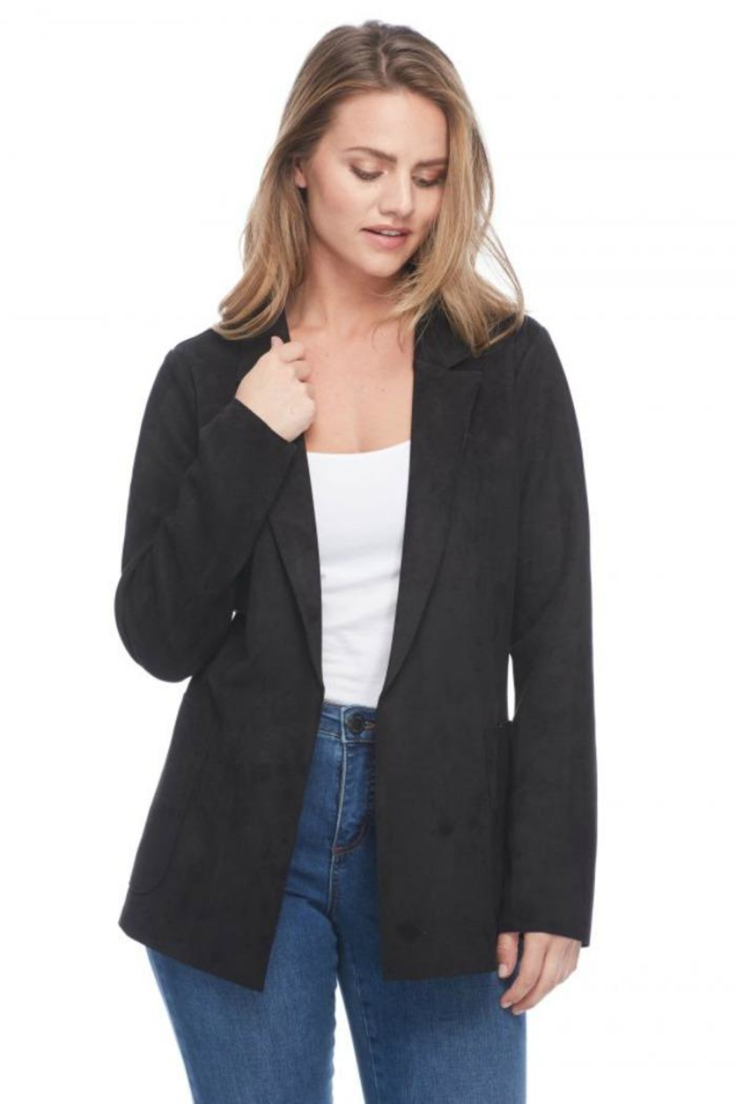 French Dressing Jeans Faux Suede Jacket - Main Image