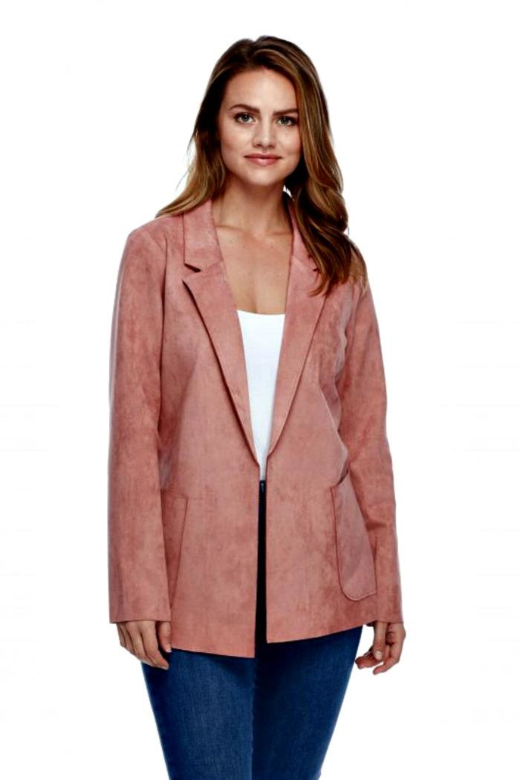 French Dressing Jeans Faux Suede Jacket - Front Cropped Image