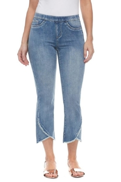 Shoptiques Product: Frayed Pull-On Jeans