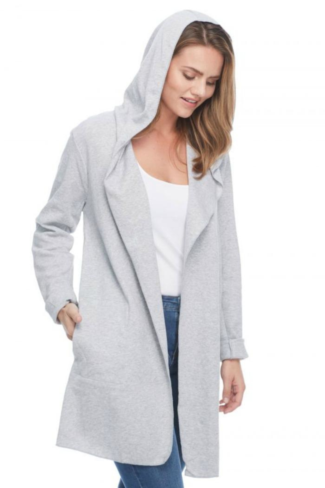 French Dressing Jeans Hoodie Open Cardigan - Main Image