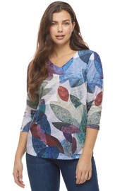 French Dressing Jeans Leaf Print Top - Product Mini Image