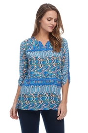 French Dressing Jeans Navajo Peasant Blouse - Product Mini Image