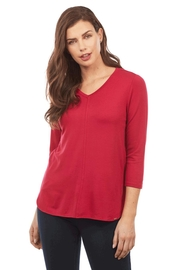 French Dressing Jeans Red V-Neck Top - Product Mini Image