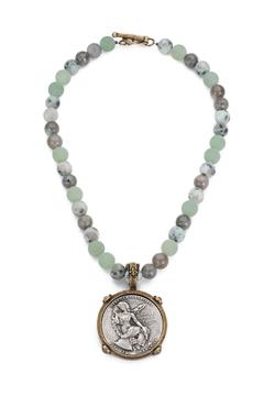 Shoptiques Product: Beaded Medallion Necklace