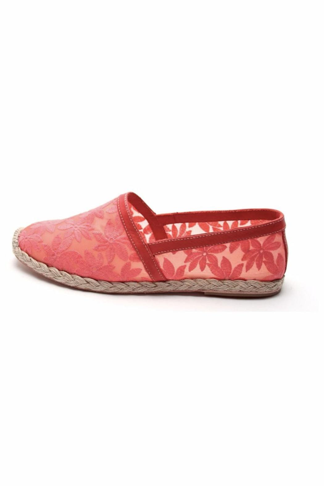 French Sole Coral Mesh Slip Ons - Main Image